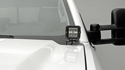 ZROADZ OFF ROAD PRODUCTS - 2015-2019 Silverado 2500, 3500 Hood Hinge LED Bracket to mount (2) 3 Inch LED Pod Lights - PN #Z361221 - Image 3