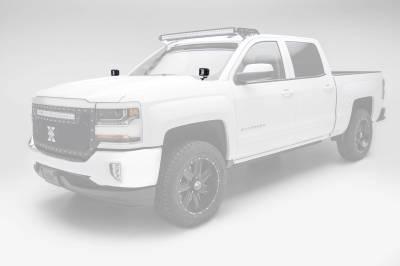 ZROADZ OFF ROAD PRODUCTS - 2014-2018 Silverado, Sierra 1500 Hood Hinge LED Bracket to mount (2) 3 Inch LED Pod Lights - PN #Z362081 - Image 1