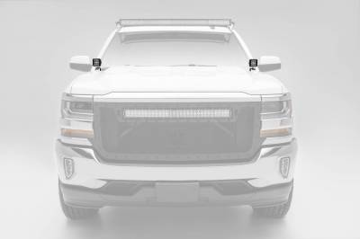ZROADZ - 2014-2018 Silverado, Sierra 1500 Hood Hinge LED Bracket to mount (2) 3 Inch LED Pod Lights - PN #Z362081 - Image 2