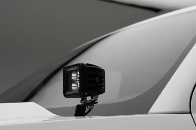 ZROADZ OFF ROAD PRODUCTS - 2014-2018 Silverado, Sierra 1500 Hood Hinge LED Bracket to mount (2) 3 Inch LED Pod Lights - PN #Z362081 - Image 4