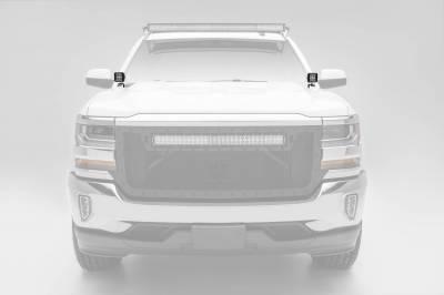 ZROADZ - 2014-2018 Silverado, Sierra 1500 Hood Hinge LED Kit with (2) 3 Inch LED Pod Lights - PN #Z362081-KIT2 - Image 2