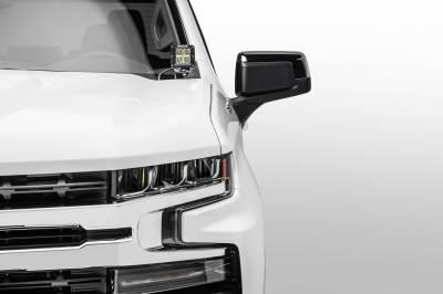 ZROADZ OFF ROAD PRODUCTS - 2019-2021 Chevrolet Silverado 1500 Hood Hinge LED Bracket to mount (2) 3 Inch LED Pod Lights - PN #Z362181 - Image 4