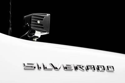 ZROADZ OFF ROAD PRODUCTS - 2019-2021 Chevrolet Silverado 1500 Hood Hinge LED Bracket to mount (2) 3 Inch LED Pod Lights - PN #Z362181 - Image 5