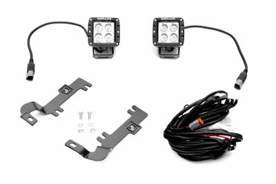 ZROADZ - 2019-2021 Chevrolet Silverado 1500 Hood Hinge LED Kit with (2) 3 Inch LED Pod Lights - PN #Z362181-KIT2 - Image 9