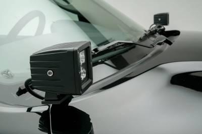 ZROADZ - Ram Hood Hinge LED Kit with (2) 3 Inch LED Pod Lights - PN #Z364521-KIT2 - Image 1