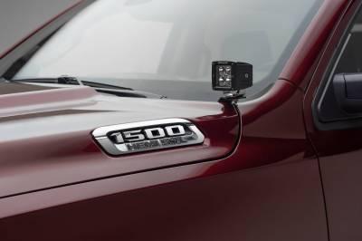 ZROADZ - 2019-2021 Ram 1500 Hood Hinge LED Kit with (2) 3 Inch LED Pod Lights - PN #Z364721-KIT2 - Image 1