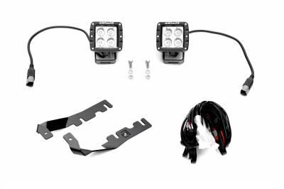 ZROADZ - 2019-2021 Ram 1500 Hood Hinge LED Kit with (2) 3 Inch LED Pod Lights - PN #Z364721-KIT2 - Image 2