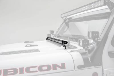 ZROADZ - Jeep JL, Gladiator Hood Cowl LED Bracket to mount (1) 30 Inch Singe Row Slim LED Light Bar - PN #Z364931 - Image 1