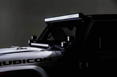 ZROADZ - Jeep JL, Gladiator Hood Cowl LED Bracket to mount (1) 30 Inch Singe Row Slim LED Light Bar - PN #Z364931 - Image 2