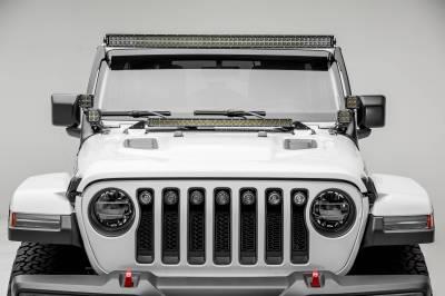 ZROADZ - Jeep JL, Gladiator Hood Cowl LED Bracket to mount (1) 30 Inch Singe Row Slim LED Light Bar - PN #Z364931 - Image 3