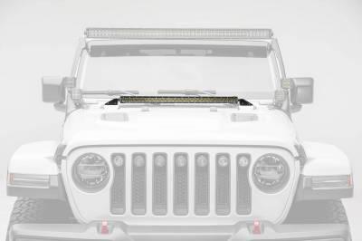 ZROADZ - Jeep JL, Gladiator Hood Cowl LED Bracket to mount (1) 30 Inch Singe Row Slim LED Light Bar - PN #Z364931 - Image 4
