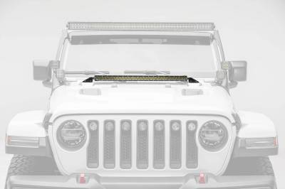 ZROADZ - Jeep JL, Gladiator Hood Cowl LED Kit with (1) 30 Inch LED Straight Single Row Slim Light Bar - PN #Z364931-KIT - Image 1