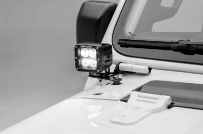 ZROADZ - Jeep JL, Gladiator Lower A Pillar LED Bracket to mount (2) 3 Inch LED Pod Lights - PN #Z364941 - Image 4