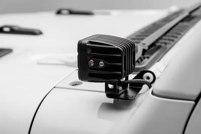 ZROADZ - Jeep JL, Gladiator Lower A Pillar LED Bracket to mount (2) 3 Inch LED Pod Lights - PN #Z364941 - Image 5