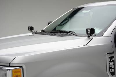 ZROADZ - 2017-2021 Ford Super Duty Hood Hinge LED Bracket to mount (2) 3 Inch LED Pod Lights - PN #Z365471 - Image 4