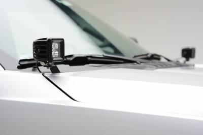 ZROADZ - 2017-2021 Ford Super Duty Hood Hinge LED Kit with (2) 3 Inch LED Pod Lights - PN #Z365471-KIT2 - Image 3