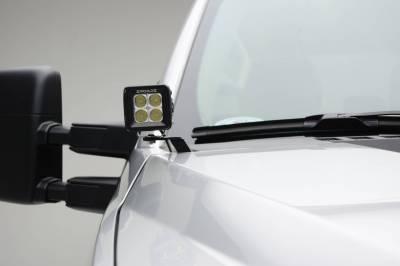 ZROADZ - 2017-2021 Ford Super Duty Hood Hinge LED Kit with (2) 3 Inch LED Pod Lights - PN #Z365471-KIT2 - Image 4