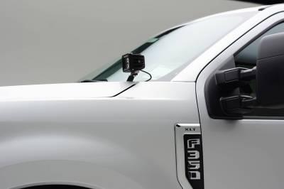 ZROADZ - 2017-2021 Ford Super Duty Hood Hinge LED Kit with (2) 3 Inch LED Pod Lights - PN #Z365471-KIT2 - Image 7