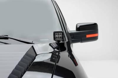 ZROADZ - Ford Hood Hinge LED Bracket to mount (2) 3 Inch LED Pod Lights - PN #Z365601 - Image 1