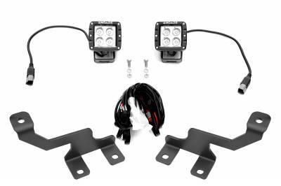 ZROADZ - Ford Hood Hinge LED Kit with (2) 3 Inch LED Pod Lights - PN #Z365601-KIT2 - Image 2