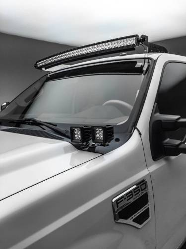 ZROADZ - 2008-2010 Ford Super Duty Hood Hinge LED Kit with (4) 3 Inch LED Pod Lights - PN #Z365631-KIT4 - Image 1