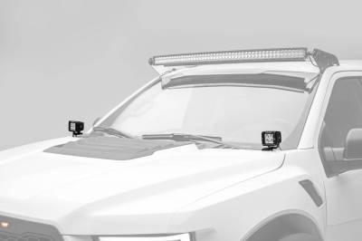 ZROADZ - 2017-2021 Ford F-150 Raptor Hood Hinge LED Bracket to mount (2) 3 Inch LED Pod Lights - PN #Z365701 - Image 2