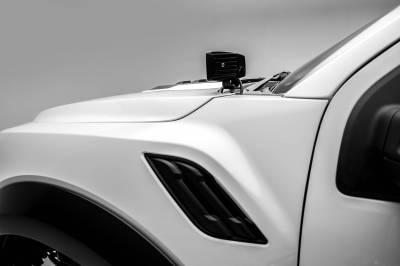 ZROADZ - 2017-2021 Ford F-150 Raptor Hood Hinge LED Bracket to mount (2) 3 Inch LED Pod Lights - PN #Z365701 - Image 7