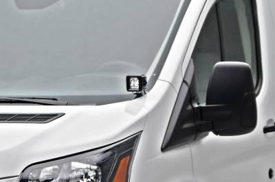 ZROADZ - 2015-2018 Ford Transit Hood Hinge LED Bracket to mount (2) 3 Inch LED Pod Lights - PN #Z365751 - Image 1