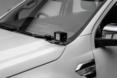ZROADZ - 2015-2018 Ford Ranger T6 Hood Hinge LED Bracket to mount (2) 3 Inch LED Pod Lights - PN #Z365761 - Image 1