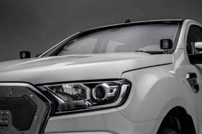 ZROADZ - 2015-2018 Ford Ranger T6 Hood Hinge LED Bracket to mount (2) 3 Inch LED Pod Lights - PN #Z365761 - Image 5