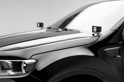 ZROADZ - 2019-2021 Ford Ranger Hood Hinge LED Kit with (2) 3 Inch LED Pod Lights - PN #Z365821-KIT2 - Image 1