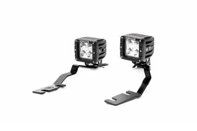 ZROADZ - 2019-2021 Ford Ranger Hood Hinge LED Kit with (2) 3 Inch LED Pod Lights - PN #Z365821-KIT2 - Image 5