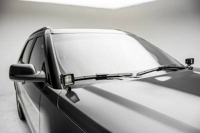 ZROADZ - 2016-2017 Ford Explorer Hood Hinge LED Bracket to mount (2) 3 Inch LED Pod Lights - PN #Z366641 - Image 2