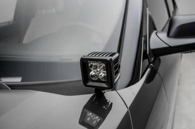 ZROADZ - 2016-2017 Ford Explorer Hood Hinge LED Bracket to mount (2) 3 Inch LED Pod Lights - PN #Z366641 - Image 3