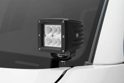 ZROADZ - 2005-2015 Toyota Tacoma Hood Hinge LED Kit with (2) 3 Inch LED Pod Lights - PN #Z369381-KIT2 - Image 1