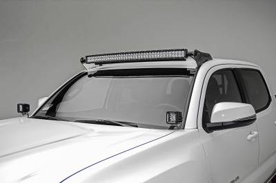 ZROADZ - 2016-2021 Toyota Tacoma Hood Hinge LED Bracket to mount (2) 3 Inch LED Pod Lights - PN #Z369401 - Image 1