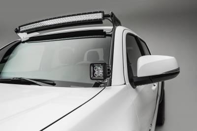 ZROADZ - 2016-2021 Toyota Tacoma Hood Hinge LED Bracket to mount (2) 3 Inch LED Pod Lights - PN #Z369401 - Image 2