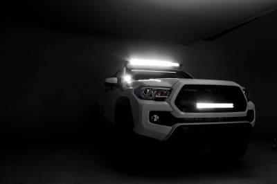 ZROADZ - 2016-2021 Toyota Tacoma Hood Hinge LED Bracket to mount (2) 3 Inch LED Pod Lights - PN #Z369401 - Image 8