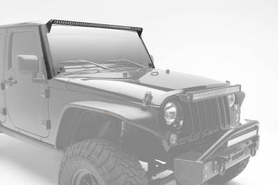 ZROADZ OFF ROAD PRODUCTS - 2007-2017 Jeep JK Front Roof LED Kit with (1) 50 Inch LED Straight Single Row Slim Light Bar - PN #Z374711-KIT - Image 1