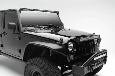 ZROADZ OFF ROAD PRODUCTS - 2007-2017 Jeep JK Front Roof LED Kit with (1) 50 Inch LED Straight Single Row Slim Light Bar - PN #Z374711-KIT - Image 2