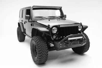 ZROADZ OFF ROAD PRODUCTS - 2007-2017 Jeep JK Front Roof LED Kit with (1) 50 Inch LED Straight Single Row Slim Light Bar - PN #Z374711-KIT - Image 3