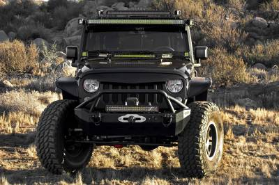ZROADZ OFF ROAD PRODUCTS - 2007-2018 Jeep JK Front Roof LED Bracket to mount (1) 50 or 52 Inch Staight LED Light Bar - PN #Z374811 - Image 3