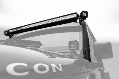 ZROADZ OFF ROAD PRODUCTS - 2007-2018 Jeep JK Front Roof LED Bracket to mount (1) 50 or 52 Inch Staight LED Light Bar - PN #Z374811 - Image 4