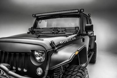 ZROADZ OFF ROAD PRODUCTS - 2007-2018 Jeep JK Front Roof LED Bracket to mount (1) 50 or 52 Inch Staight LED Light Bar - PN #Z374811 - Image 6