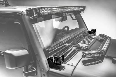 ZROADZ - 2007-2018 Jeep JK Lower A Pillar LED Bracket to mount (2) 3 Inch LED Pod Lights - PN #Z374814 - Image 1