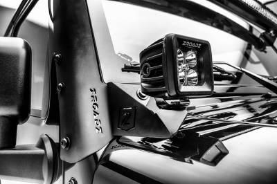 ZROADZ - 2007-2018 Jeep JK Lower A Pillar LED Bracket to mount (2) 3 Inch LED Pod Lights - PN #Z374814 - Image 2