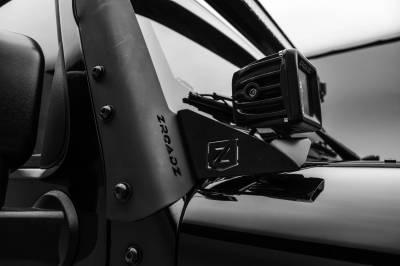 ZROADZ - 2007-2018 Jeep JK Lower A Pillar LED Bracket to mount (2) 3 Inch LED Pod Lights - PN #Z374814 - Image 3