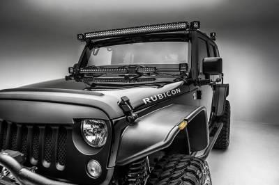 ZROADZ - 2007-2018 Jeep JK Lower A Pillar LED Bracket to mount (2) 3 Inch LED Pod Lights - PN #Z374814 - Image 4