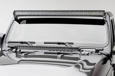 ZROADZ - Jeep JL, Gladiator Front Roof LED Bracket to mount (1) 50 or 52 Inch Staight LED Light Bar - PN #Z374831 - Image 2