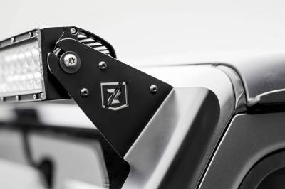 ZROADZ - Jeep JL, Gladiator Front Roof LED Bracket to mount (1) 50 or 52 Inch Straight LED Light Bar and (2) 3 Inch LED Pod Lights - PN #Z374831-BK2 - Image 7